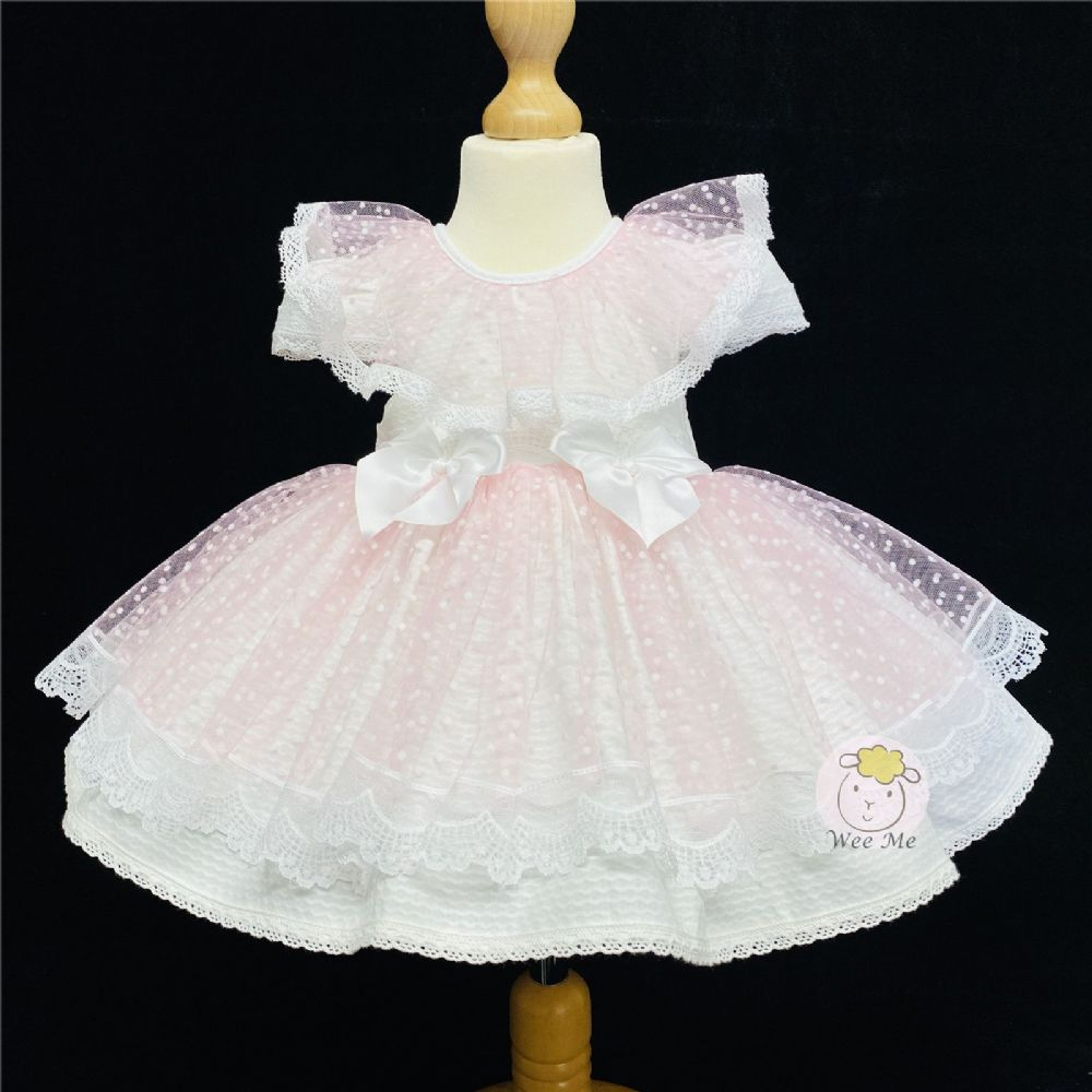 Gorgeous Baby Girl Pink Puff Ball Dress Romany